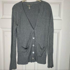 American Rag | Gray Button Down | Cardigan sweater